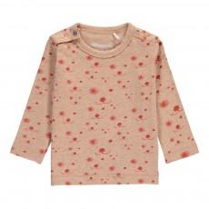 T-Shirt Coton Bio Allover Visage Chien Rose