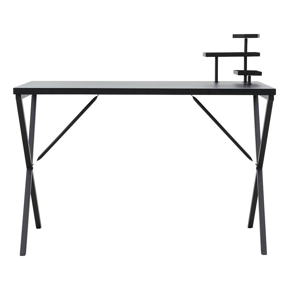 bureau en m tal avec plateaux noir house doctor mobilier smallable. Black Bedroom Furniture Sets. Home Design Ideas