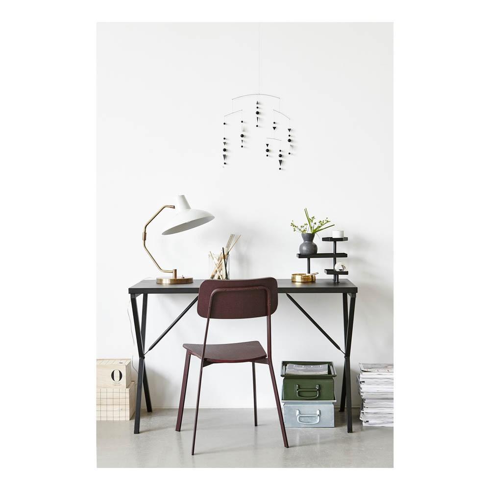 bureau en m tal avec plateaux noir house doctor mobilier. Black Bedroom Furniture Sets. Home Design Ideas
