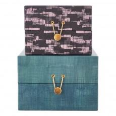 Boîtes de rangement carrées Seasons - Set de 2