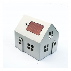 Maison-veilleuse à energie solaire à construire Blanc