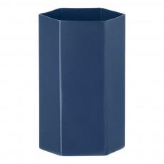 Vase Hexagon en métal H12cm Bleu