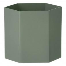 Pot Hexagon en métal H12cm Vert