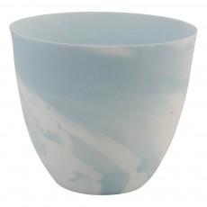 Photophore effet marbre Bleu