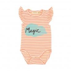 "Body Rayé ""Magic"" Frida Orange"