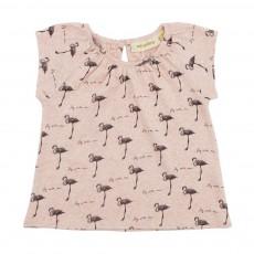 T-Shirt Flamants Roses Olivia Rose pâle