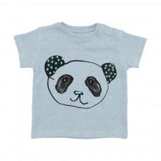 T-Shirt Panda Ashton Bleu chiné