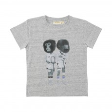 T-Shirt Singes Tennismen Bass Gris chiné