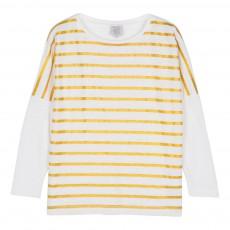T-Shirt Rayé Tulpy Doré