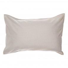 Taie d'oreiller à pois 75x50 cm Gris clair