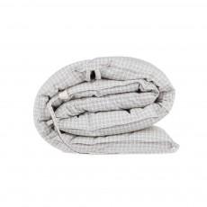 Tour de lit à carreaux 190x35 cm Ivoire