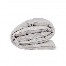 Tour de lit à petit pois 190x35 cm Gris clair