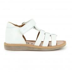 Sandales Cuir Poppy Strap Blanc