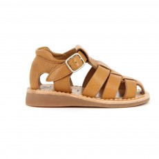 Sandales Cuir Yapo Papy Boucle Camel