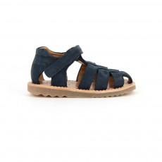 Sandales Suède Waff Papy Bleu nuit