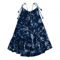 Robe Dos Nu Tie and Dye Carolina Bleu marine