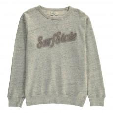"""Sweat """"Surf State"""" Bouclette Gris chiné"""