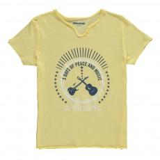 T-Shirt Guitares Boxer Jaune pâle