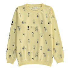 Sweat Personnages Snoopy Jaune