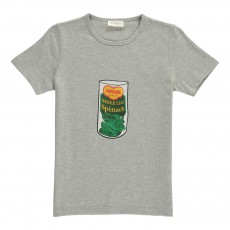 T-Shirt Lin Spinach Gris chiné