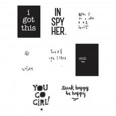 Affiches Inspire pour Poster Ligthbox - Set de 8 Blanc