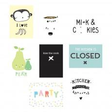 Affiches Cuisine pour Poster Ligthbox - Set de 8 Multicolore