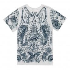 T-Shirt Chasse Trésor Arlo Blanc