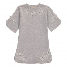 Robe Sweat Fleurs Floss Gris chiné