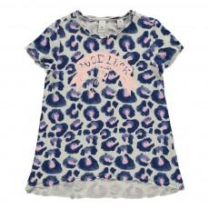 T-shirt Léopard Bleu