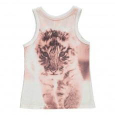Débardeur Tigre Dos Blanc