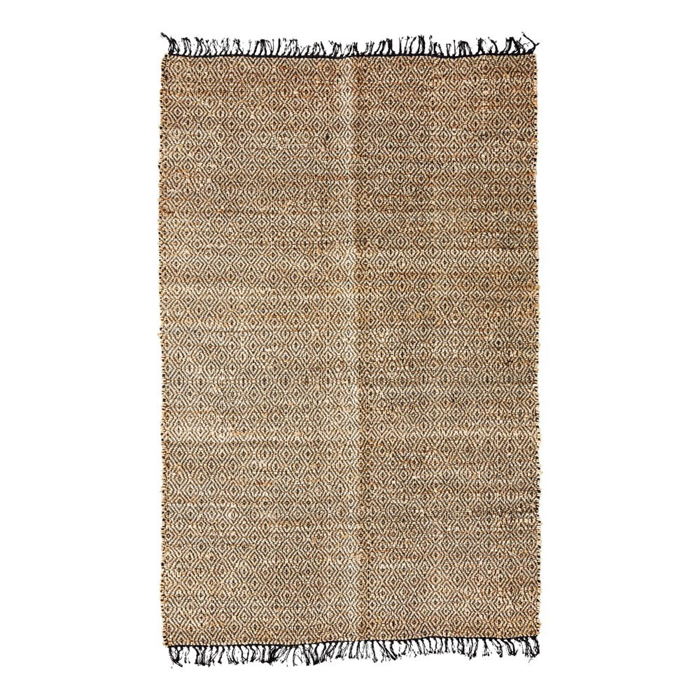 tapis diamond en chanvre naturel madam stoltz d coration smallable