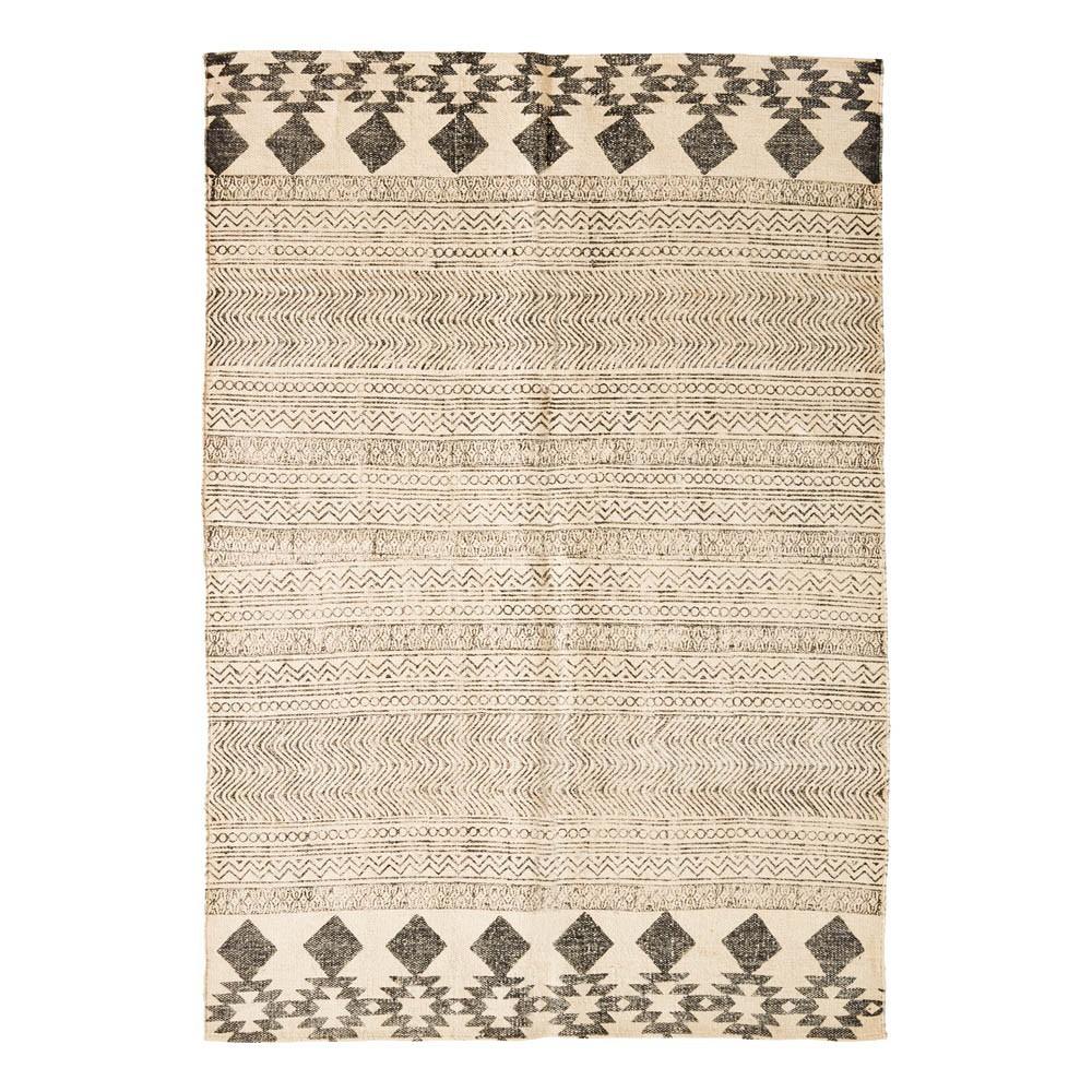 tapis en coton et jute imprim multicolore madam stoltz. Black Bedroom Furniture Sets. Home Design Ideas