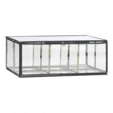 Boîte en verre à 6 compartiments Noir