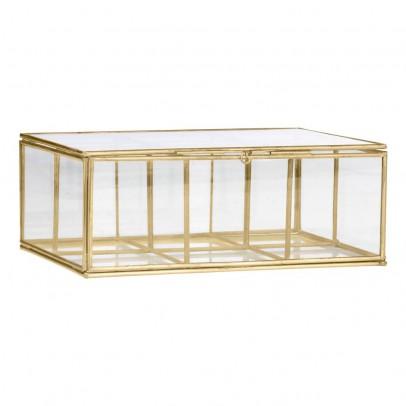 Boîte en verre à 6 compartiments Laiton