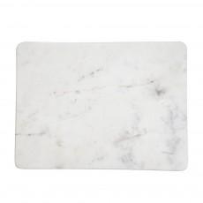 Planche à découper rectangulaire en marbre Marbré blanc
