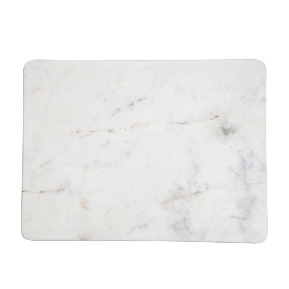 planche d couper rectangulaire en marbre marbr blanc. Black Bedroom Furniture Sets. Home Design Ideas