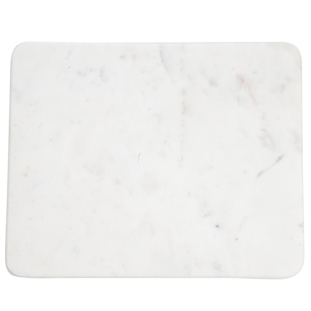 Planche d couper rectangulaire en marbre marbr blanc for Planche a decouper marbre