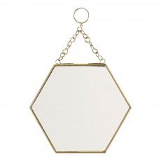 Miroir hexagonal Laiton