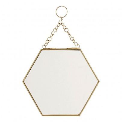 Miroir hexagonal laiton madam stoltz d coration smallable for Miroir hexagonal
