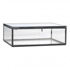 Boîte de rangement en verre 22x17 cm Noir