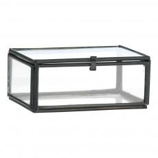 Mini boîte en verre 8,5x6 cm Noir