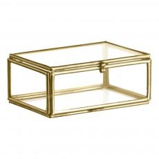 Mini boîte en verre 8,5x6 cm Laiton