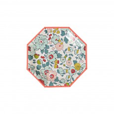 Assiettes en carton motif Liberty Betsy - Set de 12