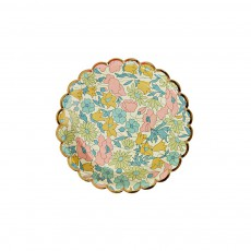 Assiettes en carton motif Liberty Poppy & Daisy - Set de 12