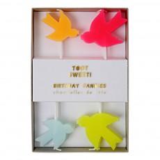 Bougies oiseaux - Set de 8 Multicolore