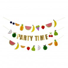 Guirlande Party Time fruits Multicolore