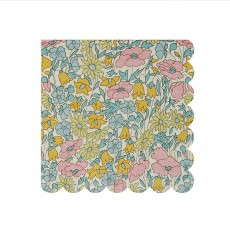 Serviettes en papier motif Liberty Poppy & Daisy - Set de 20 Multicolore