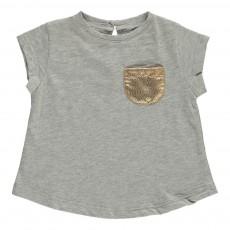 T-Shirt Poche Contrastée Anaé Gris chiné