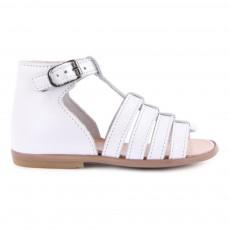 Sandales Cuir Hosmose Blanc