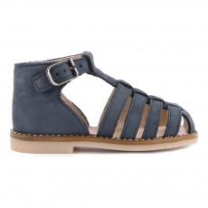 Sandales Nubuck Joyeux Bleu marine